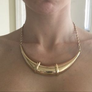 Gold bar costume jewelry necklace